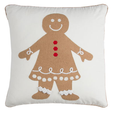 Rizzy Home Evelyn Gingerbread Woman Holiday Pillow