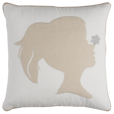 Rizzy Home Madison Snowflake On Silhouette Holiday Pillow