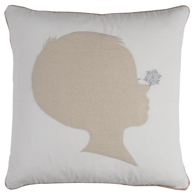 Rizzy Home Mila Snowflake On Silhouette Holiday Pillow
