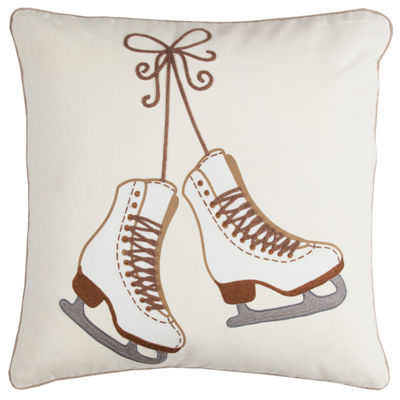 Rizzy Home Lily Ice Skates Holiday Pillow
