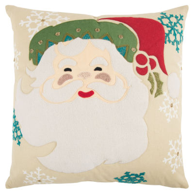 Rizzy Home Riley Santa Clause Holiday Pillow