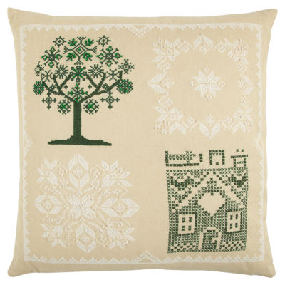 Rizzy Home Ellie Tree Holiday Pillow