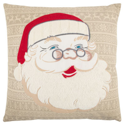 Rizzy Home Zoey Santa Clause Holiday Pillow