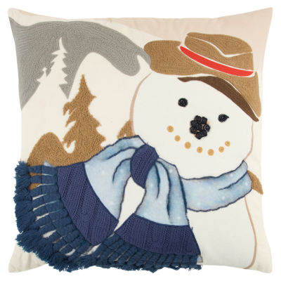 Rizzy Home Penelope Snowman Holiday Pillow