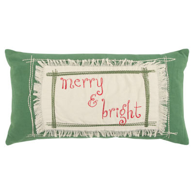 Rizzy Home Luna Merry & Bright Holiday Pillow