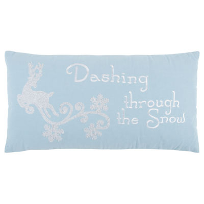 Rizzy Home Aurora Dashing Through The Snow Holiday Pillow