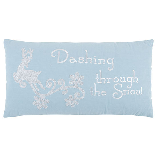 Rizzy Home Aurora Dashing Through The Snow Holiday Pillow