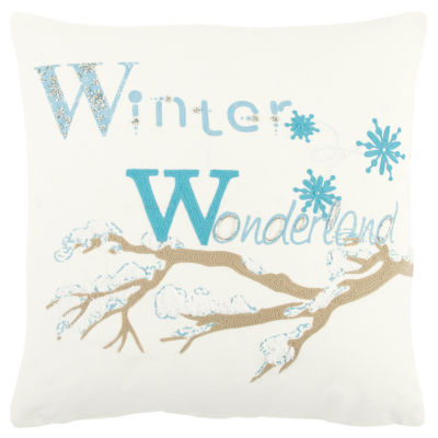 Rizzy Home Mason Winter Wonderland Holiday Pillow