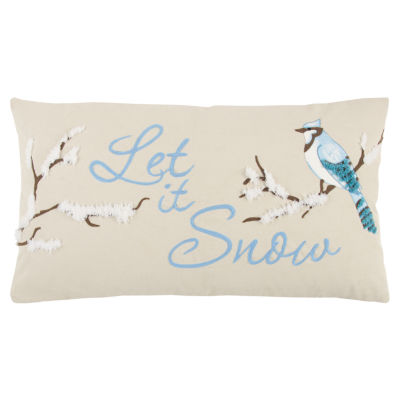 Rizzy Home Oliver Let It Snow Holiday Pillow