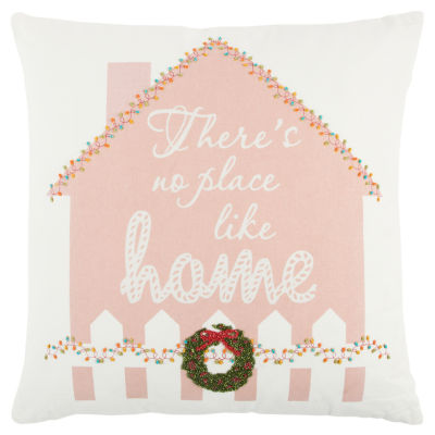 Rizzy Home Jacob Gingerbread House Holiday Pillow