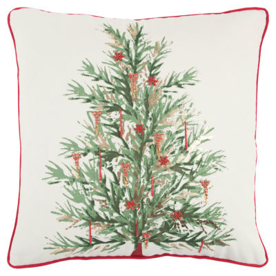 Rizzy Home Aden Christmas Tree Holiday Pillow