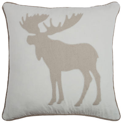 Rizzy Home Abby Moose Profile Holiday Pillow