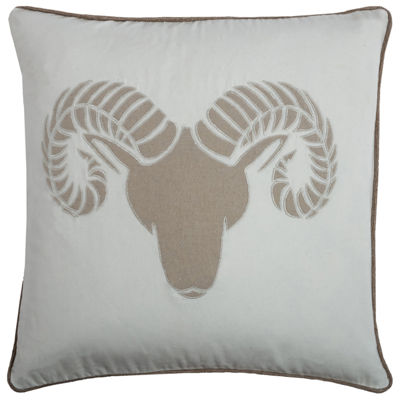 Rizzy Home Charlotte Ram Holiday Pillow