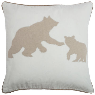 Rizzy Home Mia Bear Mom And Cub Holiday Pillow