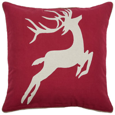 Rizzy Home Harper Deer Holiday Pillow