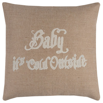 Rizzy Home Spencer Word Holiday Pillow