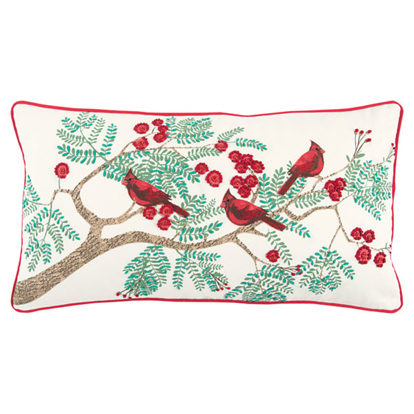 Rizzy Home James Cardinals Holiday Pillow