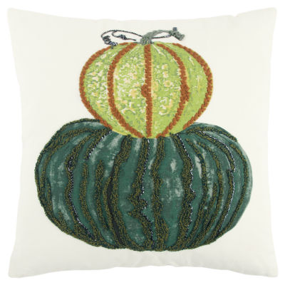 Rizzy Home Camila Pumpkins Holiday Pillow