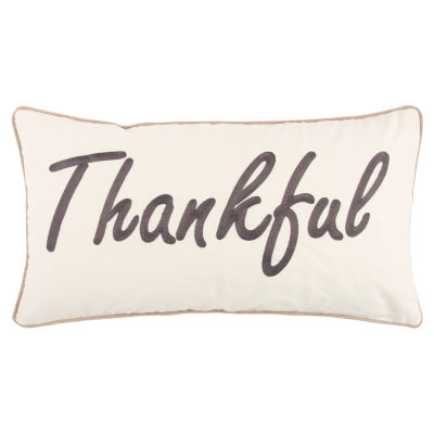 Rizzy Home Audrey Thankful Holiday Pillow