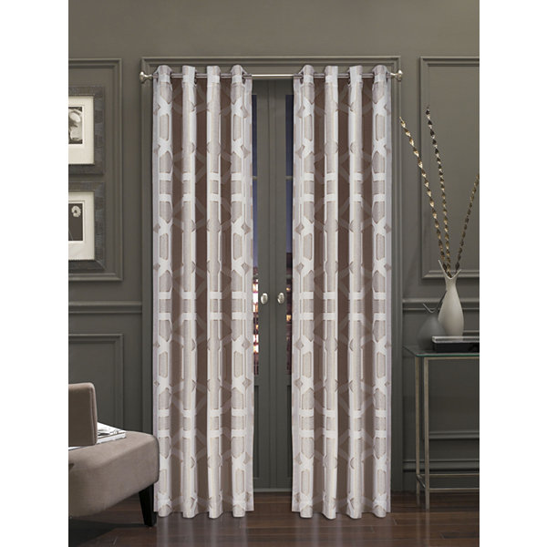 Queen Street Katrina Grommet-Top Curtain Panel