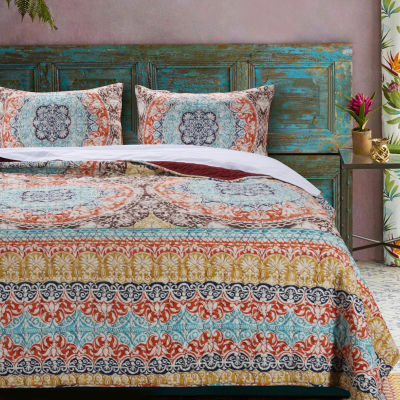Barefoot Bungalow Olympia 2-pc. Bohemian Quilt Set
