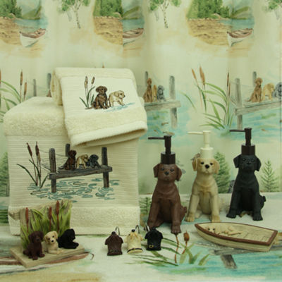 Bacova Guild Woodland Dogs Bath Collection