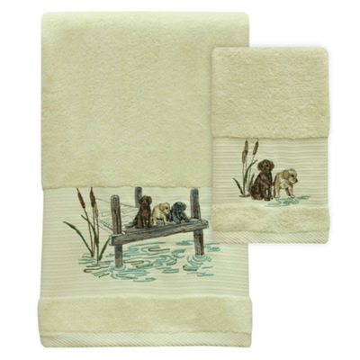 Bacova Guild Woodland Dogs Embroidered Bath Towel