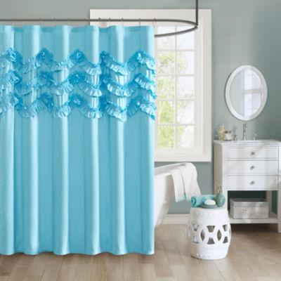 Intelligent Design Carmen Ultra Soft Shower Curtain