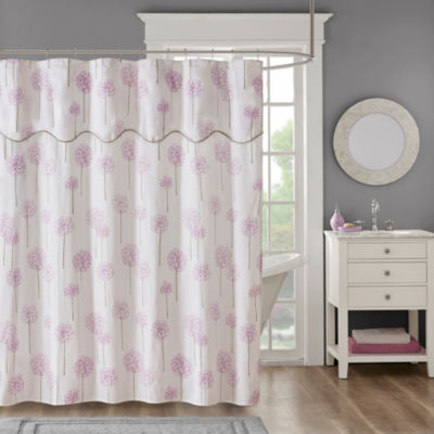 Madison Park Dandelion Cotton Shower Curtain