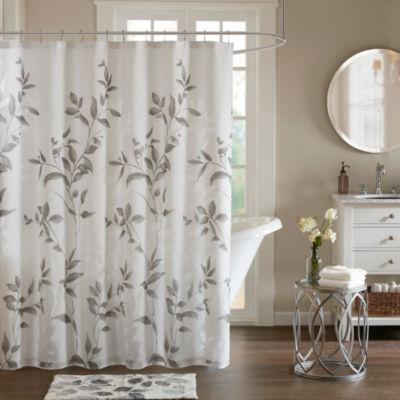 Madison Park Vera Printed Shower Curtain