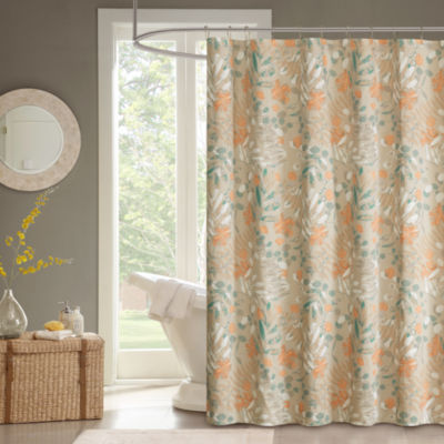 Madison Park Robin Cotton Shower Curtain