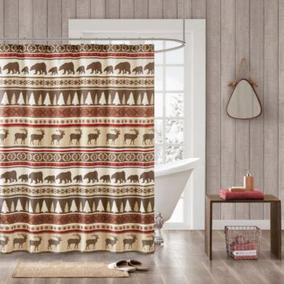 Madison Park Butte Herringbone Shower Curtain