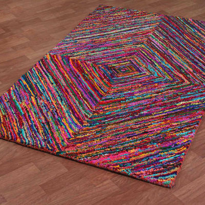 ST. CROIX TRADING Brilliant Ribbon Vortex Rug