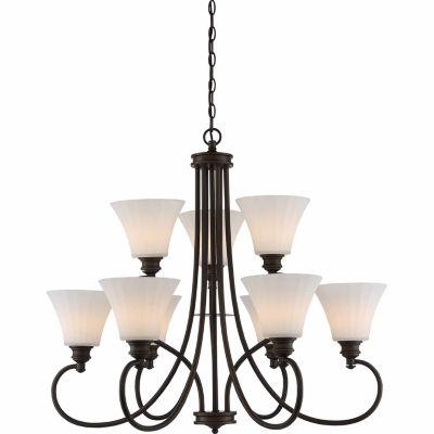 Filament Design 9-Light Aged Bronze Chandelier