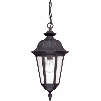 Filament Design 1-Light Satin Iron Ore Outdoor Hanging Lantern