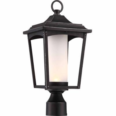 Filament Design 1-Light Sterling Black Outdoor Post Light