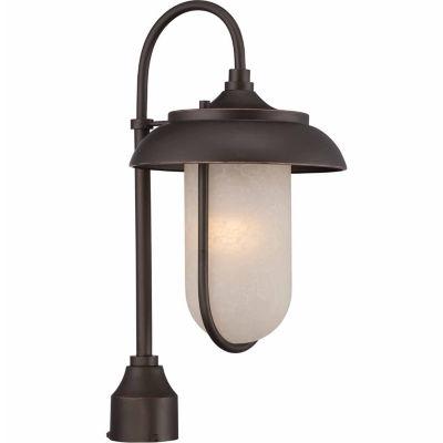 Filament Design 1-Light Mahogany Bronze Outdoor Post Light