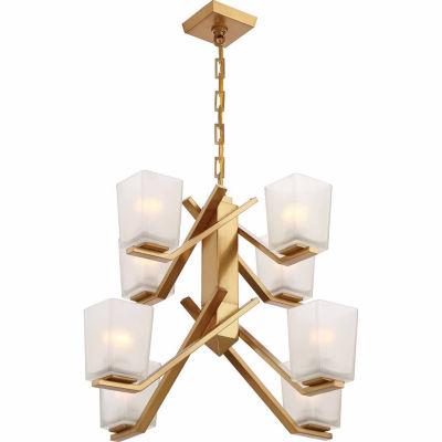 Filament Design 8-Light Vintage Brass Chandelier