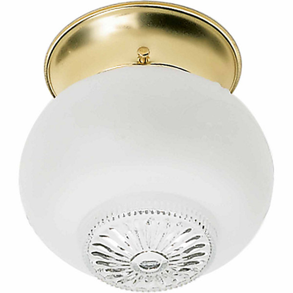 Filament Design 1-Light Polished Brass Flush Mount