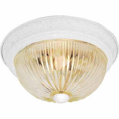 Filament Design 2-Light Textured White Flush Mount