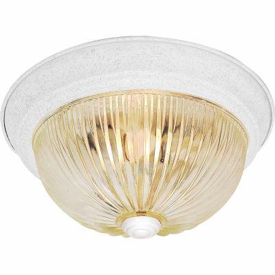 Filament Design 2-Light Textured White Flush Mount
