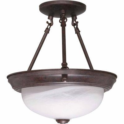 Filament Design 2-Light Old Bronze Semi-Flush Mount