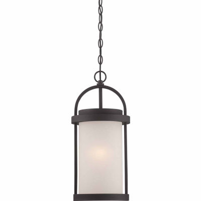 Filament Design 1-Light Textured Black Outdoor Hanging Lantern