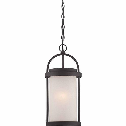 Filament Design 1-Light Textured Black Outdoor Hanging Lantern