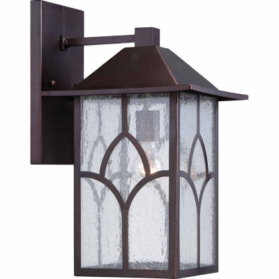 Filament Design 1-Light Claret Bronze Glass Outdoor Wall Sconce - JCPenney