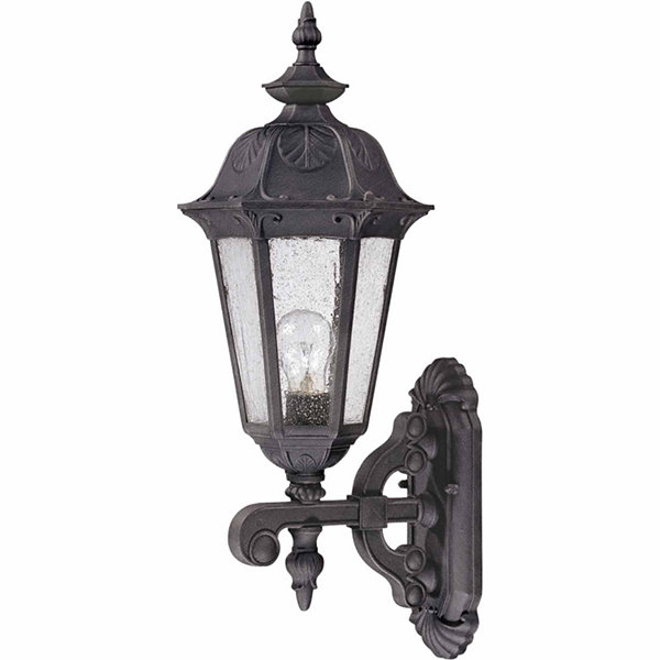 Filament Design 1-Light Satin Iron Ore Outdoor Wall Sconce