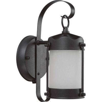 Filament Design 1-Light Textured Black Outdoor Wall Sconce