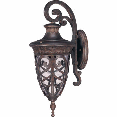Filament Design 1-Light Dark Plum Bronze Outdoor Wall Sconce
