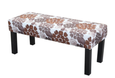 Bench Chair with wild flower pattern