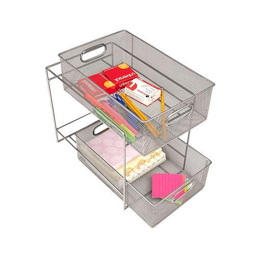 Mind Reader 2-Tier Metal Mesh Storage Baskets